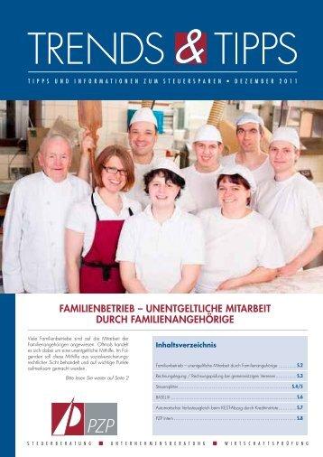 Familienbetrieb – unentgeltliche mitarbeit durch ... - PZP