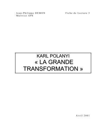 la grande transformation polanyi pdf