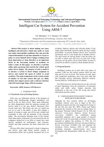 Intelligent Car System for Accident Prevention Using ARM-7