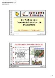 Der Aufbau einer Geodateninfrastruktur für Deutschland - DVW