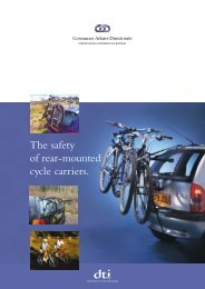 The safety of rear-mounted cycle carriers.
