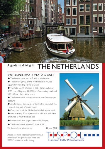 A guide to driving in THE NETHERLANDS - Tispol