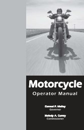 The Connecticut Motorcycle Operator's Manual - CT.gov