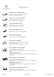 Multimedia Car System 2010 INTERFACE IPOD + USB + ... - Leatronic