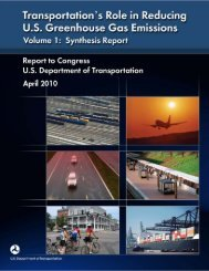 Transportation's Role in Reducing U.S. Greenhouse Gas Emissions ...