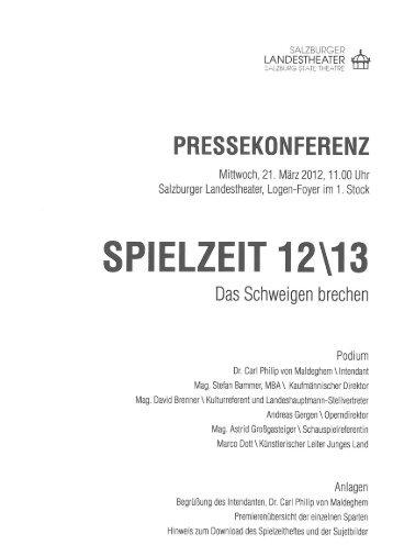 PRESSEKONFERENZ - Salzburger Landestheater