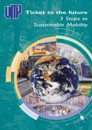 Ticket to the future 3 Stops to Sustainable Mobility - UITP