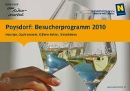 Poysdorf: Besucherprogramm 2010