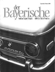 BMW Car Club of America - der Bayerische
