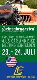 Infoflyer US-Car and Bike Meeting - in Leinfelden-Echterdingen