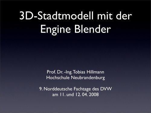 3D-Stadtmodell mit der Engine  Blender