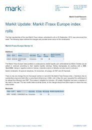 Markit Update: Markit iTraxx Europe index rolls - Markit.com