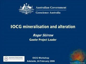 IOCG mineralisation and alteration - Geoscience Australia