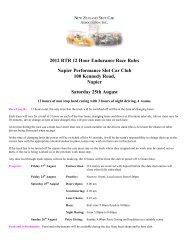 2012 RTR 12 Hour Endurance Race Rules Napier ... - nzsca
