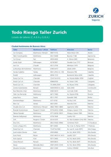 Todo Riesgo Taller Zurich