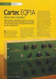 Cartec EQP-1A SOS review - Cartec Audio