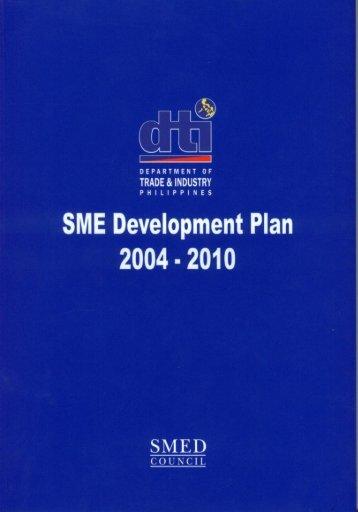 The SME Development Plan 2004 - DTI