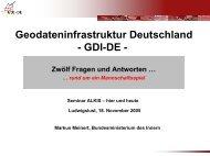 Geodateninfrastruktur Deutschland - GDI-DE -