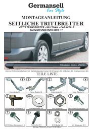 Car Style Germansell VW T5 TRANSPORTER - MULTIVAN
