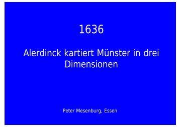 Alerdinck kartiert Münster in drei Dimensionen