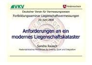 Anforderungen an ein modernes Liegenschaftskataster - Deutscher ...