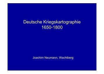 Deutsche Kriegskartographie 1650-1800