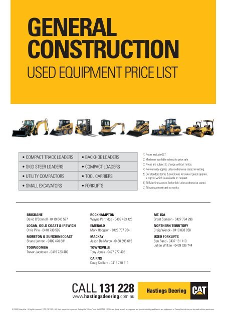 Hotsheet - Used Caterpillar Equipment and Parts for sale