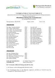 öffentlichen Sitzung des Gemeinderates - Pettenbach