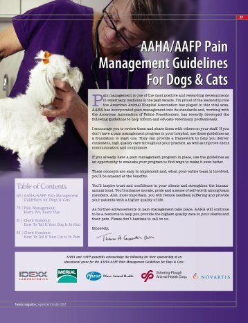 AAHA/AAFP Pain Management Guidelines for Dogs & Cats