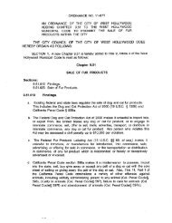 ORDINANCE NO. 11-877 AN ORDINANCE OF THE CITY OF WEST ...