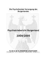 Psychiatriebericht Burgenland - Psychosozialer Dienst