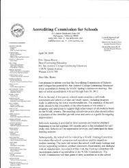 Accrediting Commission for Schools - Mt. San Antonio College