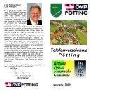 Telefonverzeichnis P ö t t i n g - Gemeinde Pötting