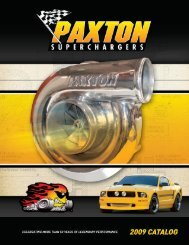 2009 - Paxton Superchargers - Performance Auto Parts and Truck ...