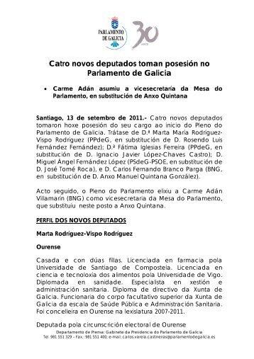 Catro novos deputados toman posesión no Parlamento de Galicia