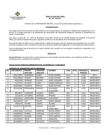 documento primer apellido segundo apellido - Universidad Central