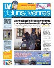 Catro detidos no operativo contra o independentismo ... - Galiciaé