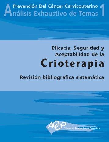 Eficacia, seguridad y aceptabilidad de la crioterapia: Revisión ...