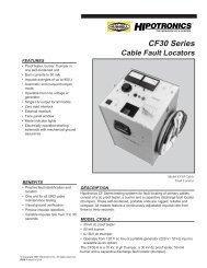 CF30 Series Cable Fault Locators