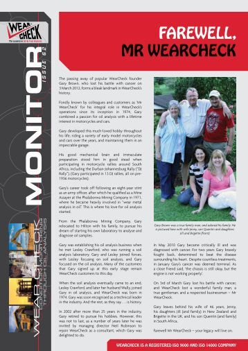 Monitor Issue 62 - WearCheck