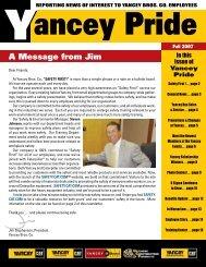 6 Sigma Project Summarys - YES - Yancey Bros. Co.