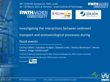 Investigating the interactions between sediment transport and ...