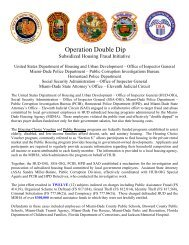 Operation Double Dip - HUD OIG Home Page