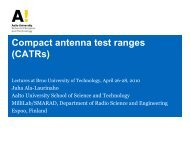 Compact antenna test ranges