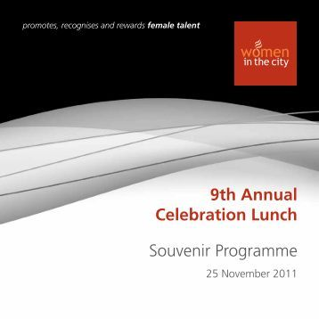 9th Annual Celebration Lunch Souvenir Programme - Women in The ...