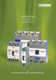 MOULDED CASE CIRCUIT BREAKER (MCCB) - Standard Electricals