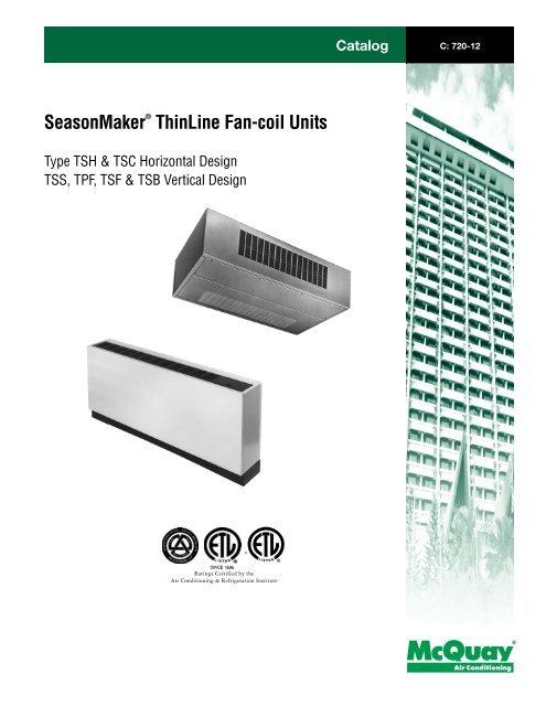 mcquay thermostat manuals fan coil unit