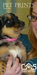 Winter 2009 Newsletter - Cheyenne Animal Shelter