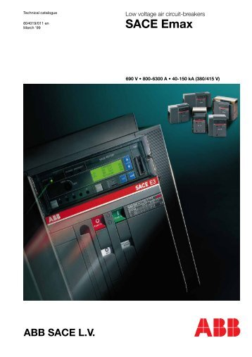 Low voltage air circuit-breakers SACE Emax