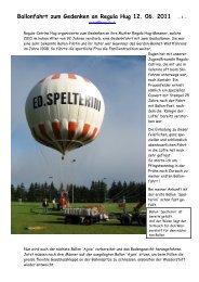 Ballonfahrt zum Gedenken an Regula Hug 12. 06. 2011 - 1 -